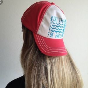 Billabong hat pink hat ca retro let there be waves